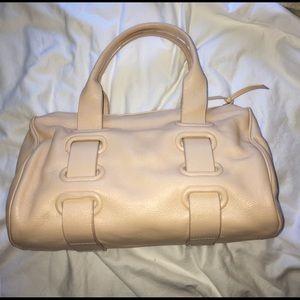 Botegga Veneta leather shoulder bag pale pink